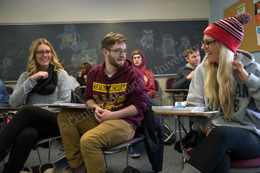 First day of Spring semester classes at Central Michigan University on January 11,201 . Photo by Steve Jessmore/Central Michigan University