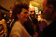 Cleo Rocos and Alain  de Botton. Book party for LAST VOYAGE OF THE VALENTINA by Santa Montefiore (Hodder & Stoughton) Asprey,  New Bond St. 12 April 2005. ONE TIME USE ONLY - DO NOT ARCHIVE  © Copyright Photograph by Dafydd Jones 66 Stockwell Park Rd. London SW9 0DA Tel 020 7733 0108 www.dafjones.com