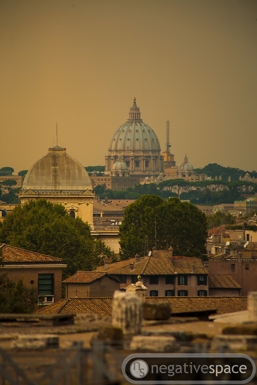 St. Peter's from Palatine Hill, Rome, Italy