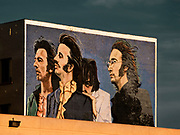 Beatles Mural by Hector Ponce; Santa Monica Boulevard and Wilcox, Los Angeles, California, USA, 2009