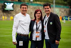 Dragan Tabakovic, Tina Jeklic, Kristjan Markovic during football match between NK Domzale and FC Lusitanos Andorra in second leg of UEFA Europa league qualifications on July 7, 2016 in Andorra la Vella, Andorra. Photo by Ziga Zupan / Sportida