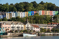 September 1, 2017 - Bristol, Bristol, UK - Bristol, UK. Scenes around Bristol Docks on 1st September, the meteorological first day of the autumn season, with coloured houses in Cliftonwood, and paddle boarders. Picture credit : Simon Chapman/LNP (Credit Image: © Simon Chapman/London News Pictures via ZUMA Wire)