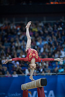 Jinnan YAO (CHN), competes in the beam, The London Prepares Visa International Gymnastics, Olympic Test Event, North Greenwich Arena, London, England January 13, 2012.