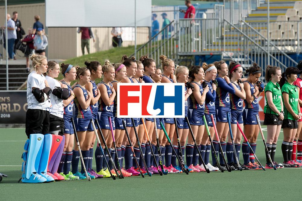 AUCKLAND - Sentinel Hockey World League final women<br /> Match id 10291<br /> USA v KOR (Pool A)<br /> Foto:  Line up USA.<br /> WORLDSPORTPICS COPYRIGHT FRANK UIJLENBROEK
