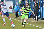 Forest Green Rovers Mark Ellis(5)  during the Vanarama National League match between Barrow and Forest Green Rovers at Holker Street, Barrow, United Kingdom on 28 January 2017. Photo by Mark Pollitt.