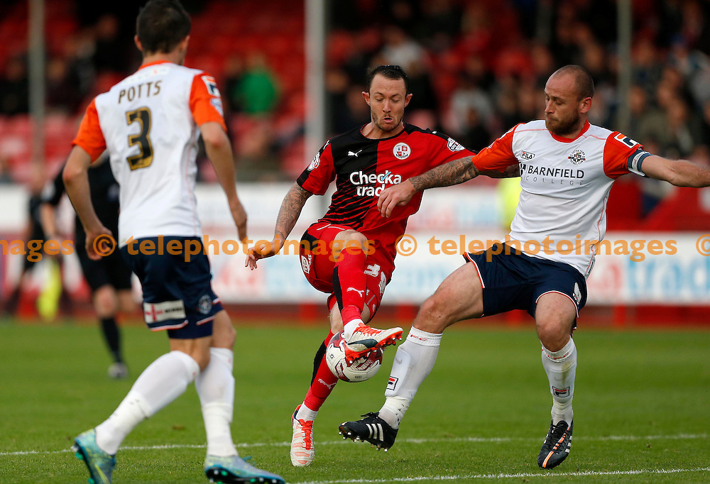 Crawley&rsquo;s Rhys Murphy in action during the Sky Bet League 2 match between Crawley Town and Luton Town at the Checkatrade.com Stadium in Crawley. October 17, 2015.<br /> James Boardman / Telephoto Images<br /> +44 7967 642437