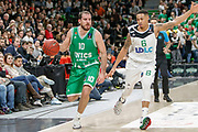 Quino Colom of Unics Kazan and AJ Slaughter of ASVEL Lyon during the 2018 EuroCup, Group H, Basketball match between ASVEL Villeurbanne and Unics Kazan on January 31, 2018 at Astroballe in Villeurbanne, France - Photo Romain Biard / ISports / ProSportsImages / DPPI