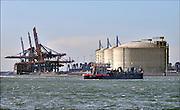 Nederlandse Gasunie en Koninklijke Vopak zijn de oprichters van Gate terminal. Gate is een afkorting van Gas Access To Europe, een LNG-importterminal. LNG , Liquefied Natural Gas, is aardgas dat wordt afgekoeld waardoor het vloeibaar wordt.De Gate terminal is de eerste Nederlandse LNG import terminal. De terminal heeft een doorzetcapaciteit van 12 miljard m3 gas per jaar. Er zijn drie opslagtanks elk met een inhoud van ongeveer 180.000 m3 en twee aanlegsteigers. De terminal ligt in Rotterdam op de Maasvlakte aan weerszijden van de Maasvlakte Olie Terminal, dicht bij de Noordzee. De steigers liggen in de nieuw gegraven Nijlhaven aan de kant van de Nieuwe Waterweg, de opslagtanks bevinden zich aan de andere kant van de MOT aan de Yangtzehaven.FOTO: FLIP FRANSSEN/ HOLLANDSE HOOGTE