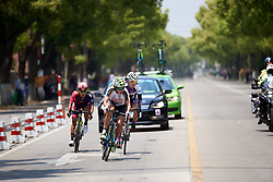 Kseniya Dobrynina (RUS) leads the break at Tour of Chongming Island 2019 - Stage 3, a 118.4 km road race on Chongming Island, China on May 11, 2019. Photo by Sean Robinson/velofocus.com