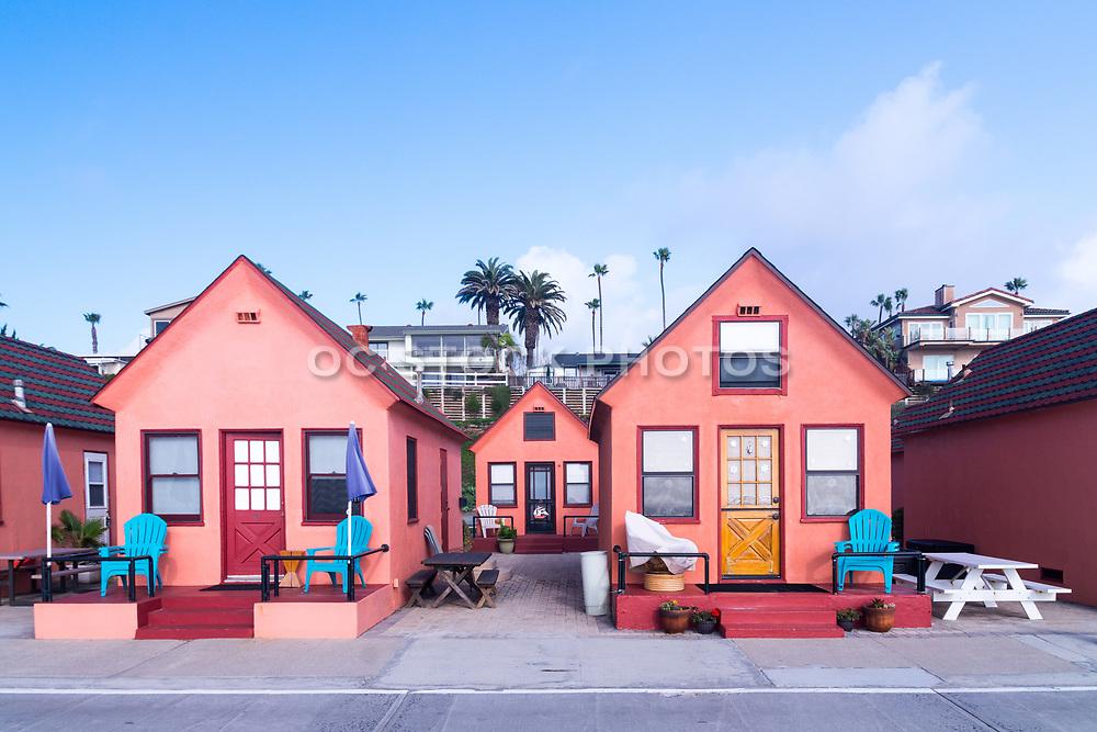 Beachfront Pink Cottage Rentals In Oceanside California