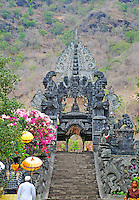 A part of the Agung Temple with the hill in the background, on Bali, Indonesia.
