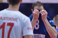 Dejection Marko Ivovic of Serbia<br /> Torino 30-09-2018 Pala Alpitour <br /> FIVB Volleyball Men's World Championship <br /> Pallavolo Campionati del Mondo Uomini <br /> Finals / 3th place<br /> Serbia - USA  <br /> Foto Antonietta Baldassarre / Insidefoto