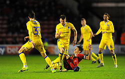 George Dobson of Walsall tackles Ollie Clarke of Bristol Rovers- Mandatory by-line: Nizaam Jones/JMP - 26/12/2018 - FOOTBALL - Banks's Stadium - Walsall, England- Walsall v Bristol Rovers - Sky Bet League One