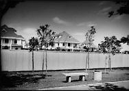 Spacious suburban house, built on former agricultural land beside a park devoid of people, Putrajaya, Malaysia.
