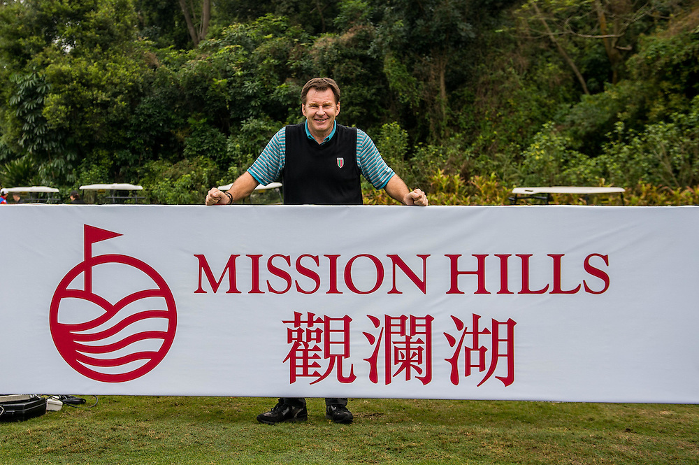 Sir Nick Faldo during day three of the 10th Faldo Series Asia Grand Final at Faldo course on 04 March of 2016 in Shenzhen, China. Photo by Xaume Olleros.