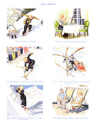 Ideal Holiday. It is the healthy exercise - together with the wonderful Alpine sun - and the thrill of acquiring skill at a new sport - added to the ease with which one gets to know perfect strangers - not forgetting the spice of danger in a winter-sports holiday - that make winter sunshine cruises so popular.