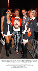 Left to right,  MISS TATUM MAZZILI, MR TIZIANO MAZZILI, MR ROCKY MAZZILI and MRS LOUISE MAZZILI at a party in London on 17th September 2003.PMO 206