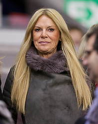 LIVERPOOL, ENGLAND - Wednesday, October 28, 2015: Jürgen Kopp's wife Ulla Sandrock during the Football League Cup 4th Round match between Liverpool and AFC Bournemouth at Anfield. (Pic by David Rawcliffe/Propaganda)