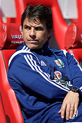 CARDIFF, WALES - Friday, June 5, 2015: Wales' manager Chris Coleman before a practice match at the Cardiff City Stadium ahead of the UEFA Euro 2016 Qualifying Round Group B match against Belgium. (Pic by David Rawcliffe/Propaganda)