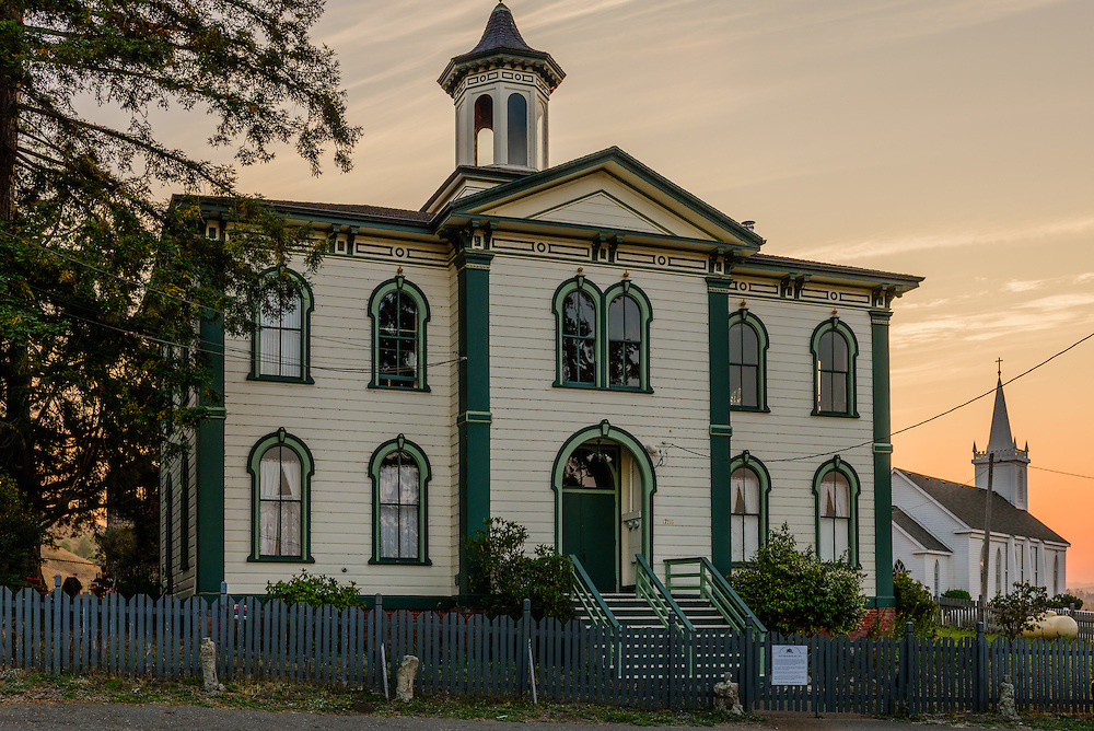 Potter School Est 1873, and Saint Teresa of Avila Church, Bodega, California