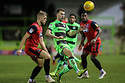 Forest Green Rovers Christian Doidge(9) on the ball during the EFL Sky Bet League 2 match between Forest Green Rovers and Grimsby Town FC at the New Lawn, Forest Green, United Kingdom on 22 January 2019.