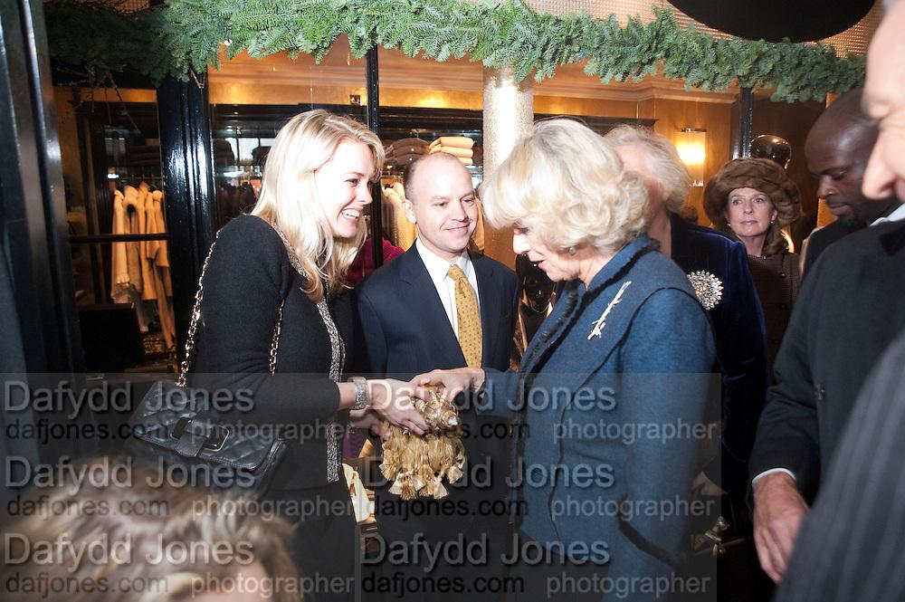 CAROLINE PARRISH; THE DUCHESS OF CORNWALL, Duchess Of Cornwall Turns On The Christmas Lights At Burlington Arcade. Piccadilly. LONDON, 19 November 2009