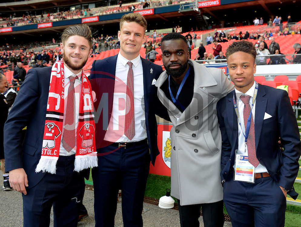 Wes Burns, Matt Smith, Bristol City's Karleigh Osborne, Bobby Reid  - Photo mandatory by-line: Joe Meredith/JMP - Mobile: 07966 386802 - 22/03/2015 - SPORT - Football - London - Wembley Stadium - Bristol City v Walsall - Johnstone Paint Trophy Final