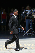 LOS ANGELES - JULY 19:  Hall of Fame running back Marcus Allen of the Los Angeles Raiders and Kansas City Chiefs during filming of the NFL's 2005 Super Bowl XL television ad campaign in Los Angeles, California on July 19, 2005. ©Paul Anthony Spinelli *** Local Caption *** Marcus Allen