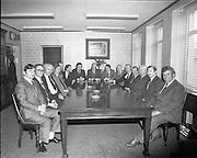 An Taoiseach Jack Lynch meeting with leading members of the SDLP  at Leinster House. From left to right, Ray McSharry TD, Frank Feely, SDLP, John Wilson, TD, Seamus Mallon, SDLP, Padraig Faulkner, TD, Ruairi Brugha, TD, John Hume, SDLP, Jack Lynch , TD, Austen Currie, SDLP, Joe Brennan, TD, Michael O'Kennedy, TD, Charles Haughey, TD, Jim Leonard, TD, John O'Leary, TD, Paddy Power, TD.