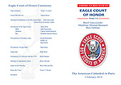 Eagle ceremony brochure