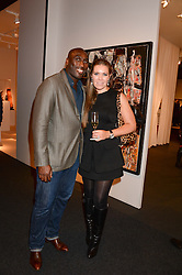 SOL CAMPBELL and FIONA BARRATT at the PAD Art and Design Fair 2013 Collectors Preview in Berkeley Square, London on 14th October 2013.