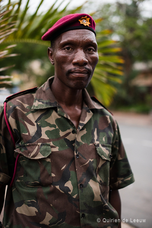 Portrait of a military official in st Lucia, a small town in KwaZulu Natal province, South Africa