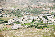 Israel, West Bank, Village in the Judaea desert, as seen from Herodion a castle fortress built by King Herod 20 B.C.E.