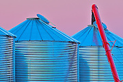 Grain bins and auger detail<br /> near Swift Current<br /> Saskatchewan<br /> Canada