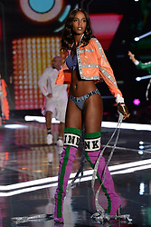 Leila Nda on the catwalk for the Victoria's Secret Fashion Show at the Mercedes-Benz Arena in Shanghai, China