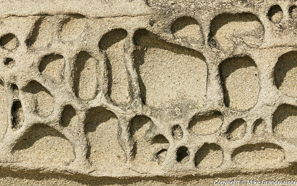 Sandstone detail<br /> Hornby Island in the Gulf Islands<br /> British Columbia<br /> Canada