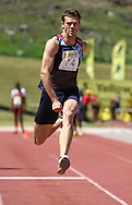 BELLVILLE, SOUTH AFRICA, Saturday 3 March 2012, Charles Le Roux of Athletics Gauteng North in the mens triple jump during the Yellow Pages Interprovincial held at Bellville Stadium stadium, outside Cape Town..Photo by ImageSA/ASA