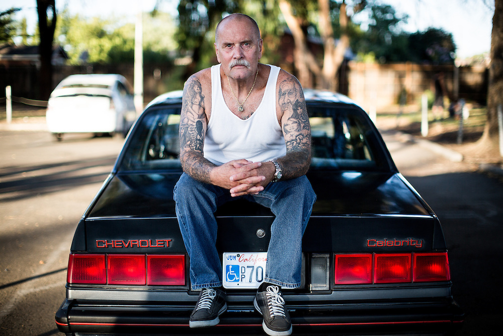 STOCKTON, CA - JULY 27, 2015:  Lonnie Rose poses for a portrait at a community park in the Stockton neighborhood he grew up in. Rose spent years in solitary confinement at Pelican Bay State Prison. CREDIT: Max Whittaker for The New York Times