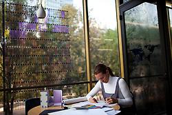 Tatiana Bilbao works inside her office in Mexico City.