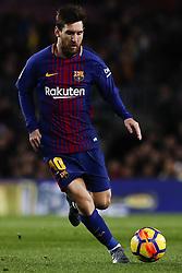 January 28, 2018 - Barcelona, Catalonia, Spain - January 28, 2017 - Camp Nou, Barcelona, Spain - LaLiga Santander- FC Barcelona v Deportivo Alaves; Leo Messi of FC Barcelona controls the ball. (Credit Image: © Eric Alonso via ZUMA Wire)