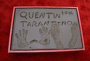 QUENTIN TARANTINO  hands & foot prints ceremony held @ the TCL Chinese theatre.<br /> ©Exclusivepix Media