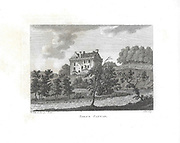 Engravings of Scottish landscapes and buildings from late eighteenth century,  Sorne Castle, Scotland, UK 1791