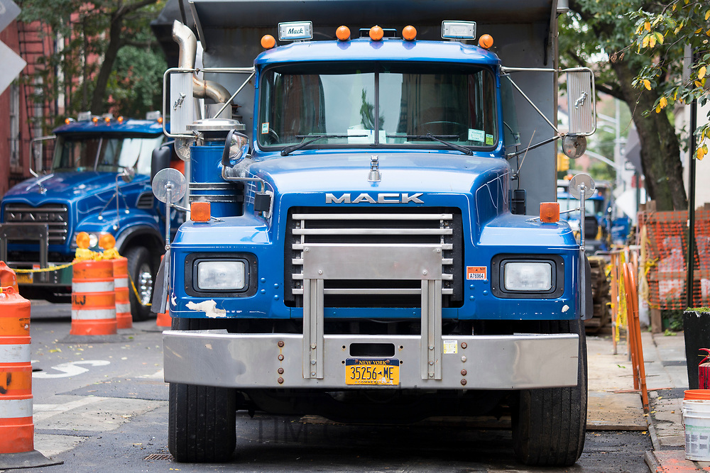 Mack truck in New York City, USA