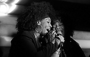 "Cindy Mizelle and Sharon Bryant perform to promote ""Louie Vega Starring...XXVIII"" album release during Roots at Cielo in New York City, New York on February 24, 2016."