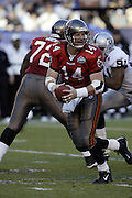 Bucs quarterback Brad Johnson at Super Bowl XXXVII in San Diego on 01/26/2003. The Tampa Bay Buccaneers defeated the Oakland Raiders 48 to 21. ©Paul Anthony Spinelli
