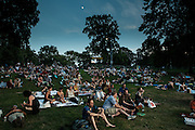 The crowd at the Celebrate Brooklyn concert spread over the lawn at Prospect Park. The concerts in the series are free, but a $3 donation is requested.