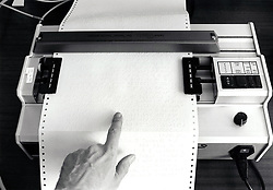Braille printer at RNIB Loughborough, UK 1990