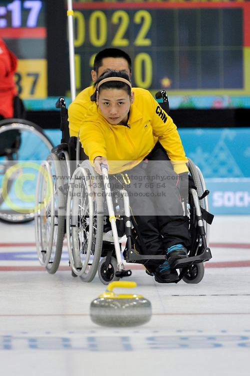 Guangqin Xu, Wheelchair Curling Finals at the 2014 Sochi Winter Paralympic Games, Russia