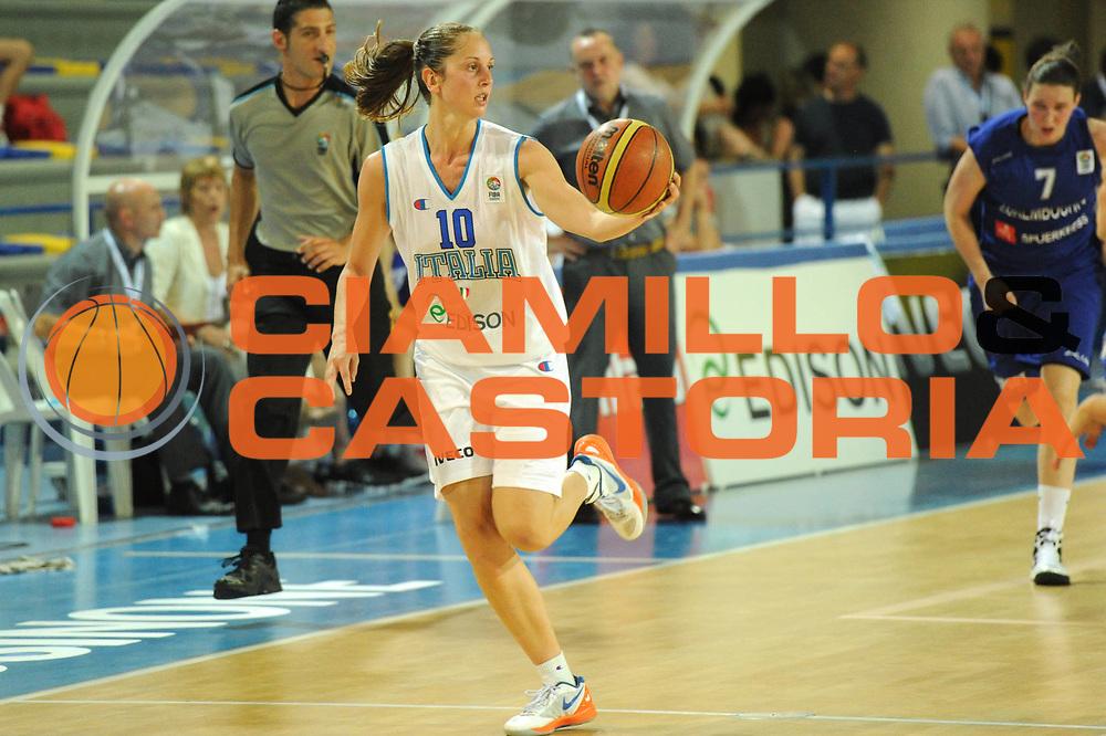 DESCRIZIONE : Frosinone Qualificazioni Europei Francia 2013 Italia Lussemburgo<br /> GIOCATORE : Lavinia Santucci<br /> CATEGORIA : palleggio<br /> SQUADRA : Nazionale Italia<br /> EVENTO : Frosinone Qualificazioni Europei Francia 2013<br /> GARA : Italia Lussemburgo Italy Luxembourg<br /> DATA : 20/06/2012<br /> SPORT : Pallacanestro <br /> AUTORE : Agenzia Ciamillo-Castoria/GiulioCiamillo<br /> Galleria : Fip 2012<br /> Fotonotizia : Frosinone Qualificazioni Europei Francia 2013 Italia Lussemburgo<br /> Predefinita :