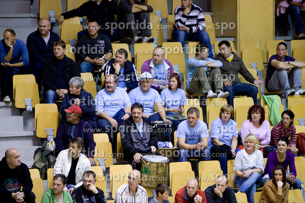 Spectators at the handball match between RD Ribnica Riko-hise and RK Prevent of MIK 1st League 2009 - 2010,  on October 04, 2009, in Ribnica, Slovenia.   (Photo by Vid Ponikvar / Sportida)
